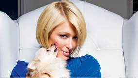 Puppy Kissing Paris Hilton At Catherine Ledner Photoshoot For ELLE